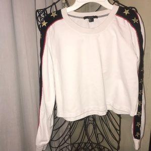 Forever 21 Star Sweatshirt Crop Top